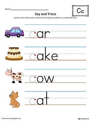 Uppercase Letter C Styles Worksheet (Color ...