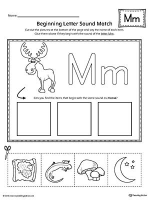 learning the letter m worksheet. Black Bedroom Furniture Sets. Home Design Ideas