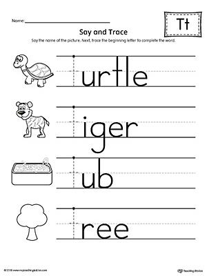 say and trace letter y beginning sound words worksheet preschool tracing worksheets for phonics. Black Bedroom Furniture Sets. Home Design Ideas