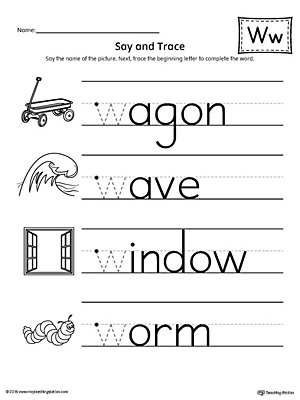 Letter W Worksheets | guruparents