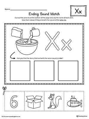 Alphabet Letter X Worksheet | Standard Block Font | Preschool ...