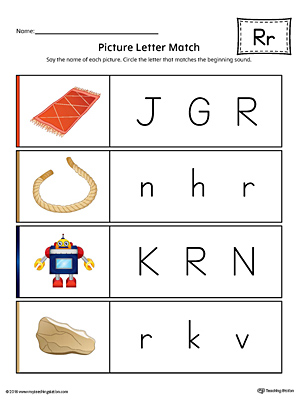 Kindergarten Phonics Printable Worksheets