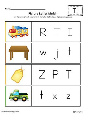 Kindergarten Letter T Coloring Worksheet Printable | Worksheets ...