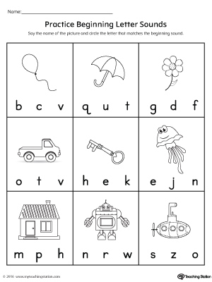 practice beginning letter sound worksheet. Black Bedroom Furniture Sets. Home Design Ideas