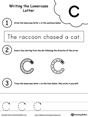 Writing Lowercase Letter C