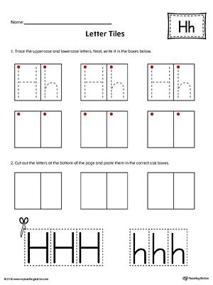 Learning The Letter H Worksheet Myteachingstation Com