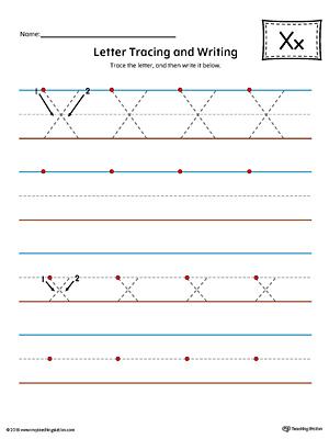 Letter X Tracing Worksheet For Kindergarten Worksheets for all ...