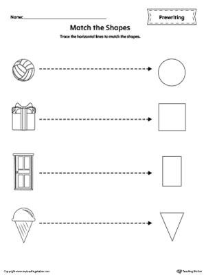 Preschool printable worksheets myteachingstation shapes line tracing prewriting worksheet ibookread PDF