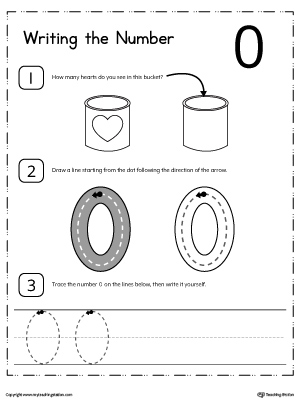 Learn how to count and write number 0 with these printable activity worksheets for preschool and kindergarten.