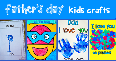 4 Easy Father's Day Kids Crafts | MyTeachingStation.com